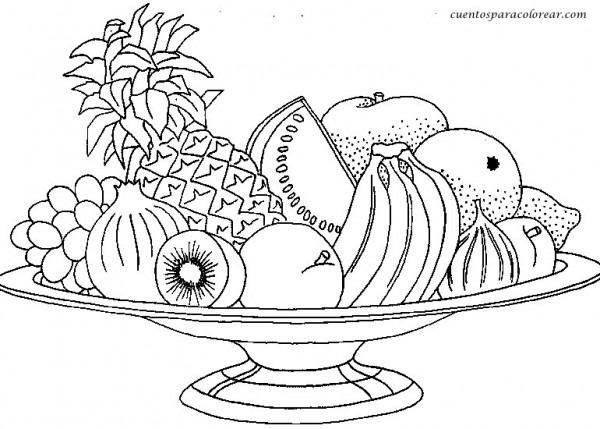 Dibujos De Frutas Y Verduras Para Imprimir Y Colorear