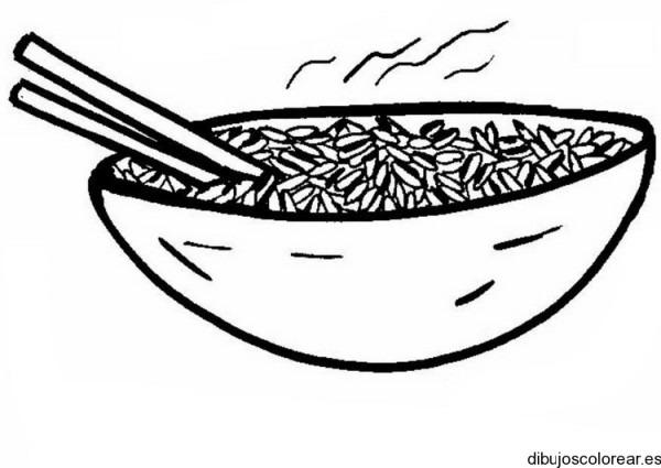 Dibujo De Una Sopa Con Fídeos