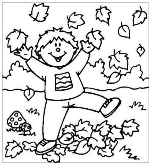 Dibujos De Otoño Para Colorear Imágenes
