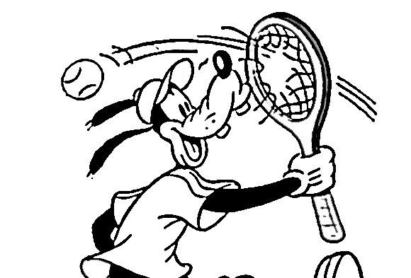 Dibujos Para Colorear De Tenis  Dibujoswiki Com