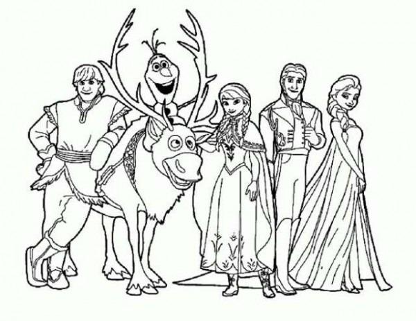 Frozen  Dibujos Para Imprimir Y Colorear De Anna, Elsa Y Otros