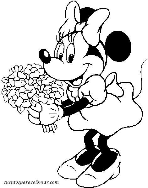 Minnie Mouse Para Colorear Gratis Imprimir