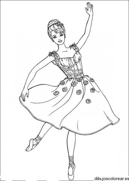 Dibujo De Barbie Bailarina De Ballet