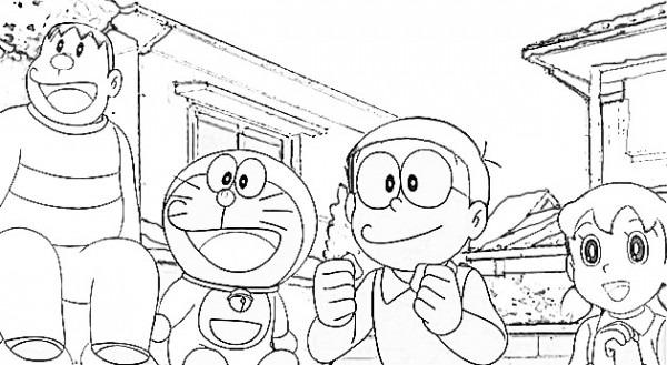 Dibujos Para Colorear Doraemon Y Sus Amigos