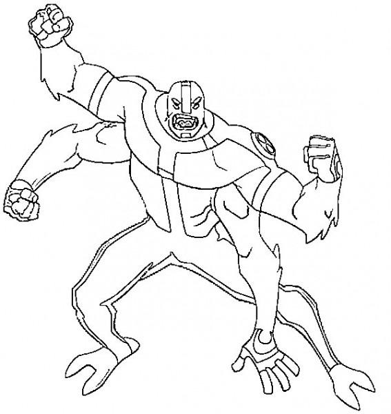 Dibujos Para Imprimir Y Pintar De Ben 10 Alienígena
