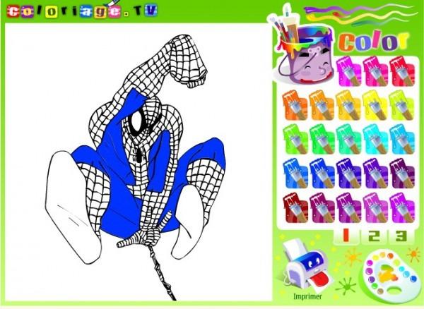 Dibujos Para Pintar Online Del Hombre Araña (i)