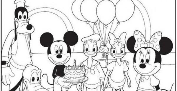 Dibujos Para Colorear De Mickey Y Sus Amigos