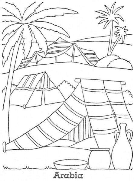 Dibujos Para Colorear Del Desierto Del Sahara