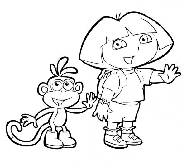 Dora Y Mono Botas