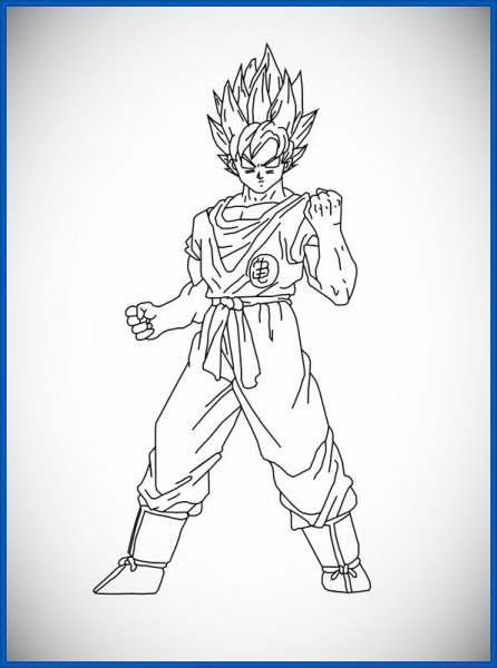 Dragon Ball Z Para Colorear Goku Fase Dios Vs Bills
