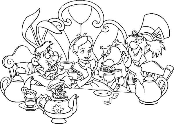 Alice In Wonderland  73 (películas De Animación) – Páginas Para