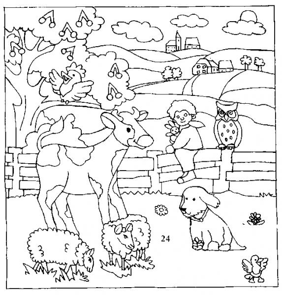 Animales De Granja  3 (animales) – Páginas Para Colorear