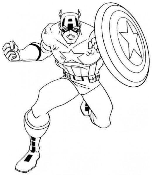 Captain America  52 (superhéroes) – Páginas Para Colorear
