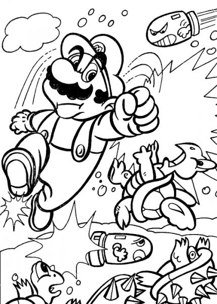 Mario Bros  17 (videojuegos) – Páginas Para Colorear