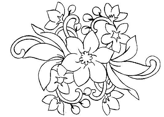 Ramo De Flores  17 (naturaleza) – Páginas Para Colorear