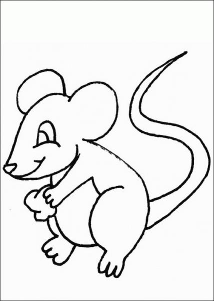 Ratón  9 (animales) – Páginas Para Colorear