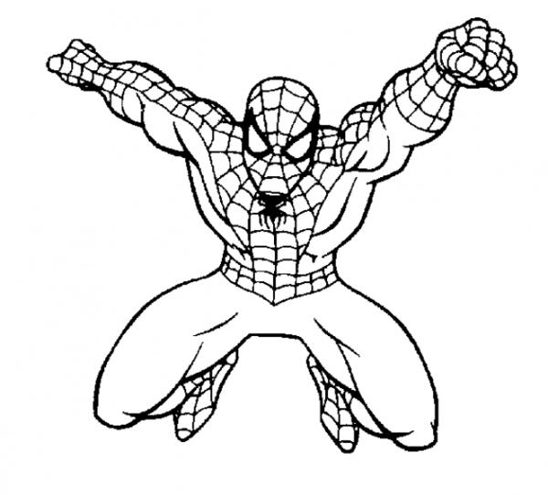 Spiderman  14 (superhéroes) – Páginas Para Colorear