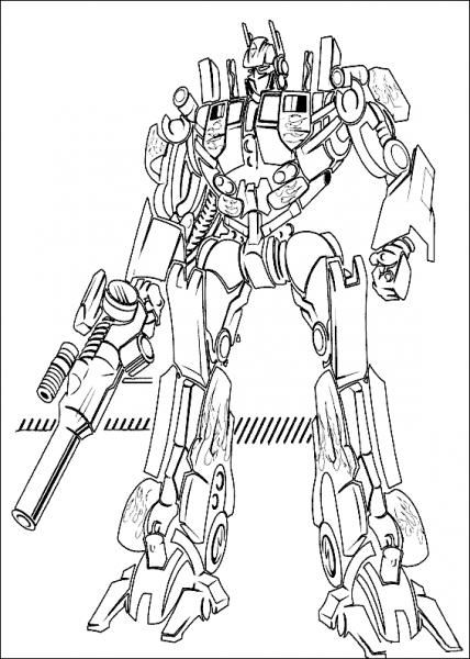 Transformers  3 (superhéroes) – Páginas Para Colorear