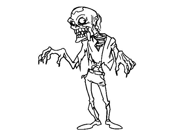 Zombi  40 (personajes) – Páginas Para Colorear