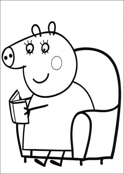 Dibujos Para Colorear Peppa Pig Para Pig Dibujos Para Colorear