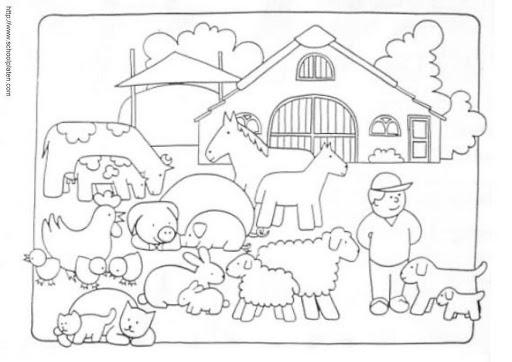 La Granja  Dibujos De La Granja Para Colorear