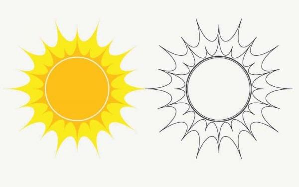 El Sol Para Colorear