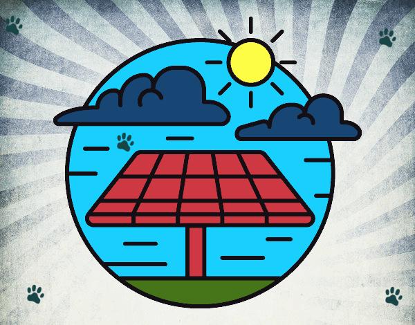 Dibujo De Paneles Solares Pintado Por En Dibujos Net El Día 10