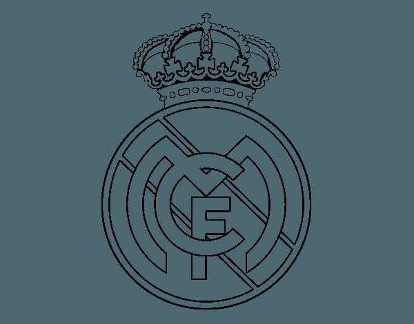 Dibujo De Escudo Del Real Madrid C F  Para Colorear