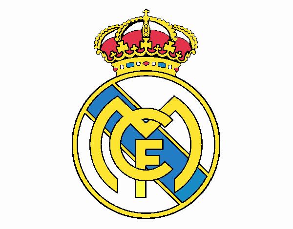 Dibujo De Escudo Del Real Madrid C F  Pintado Por En Dibujos Net