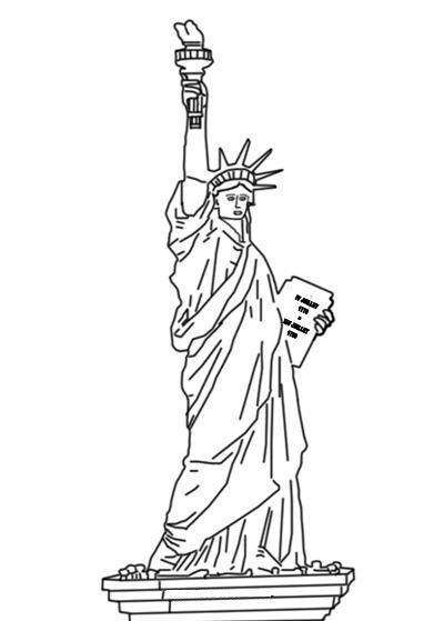 Estatua De La Libertad Para Colorear
