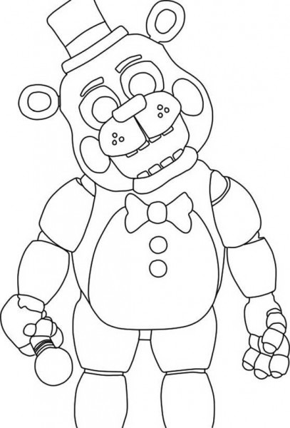 Five Nights At Freddy's Para Colorear
