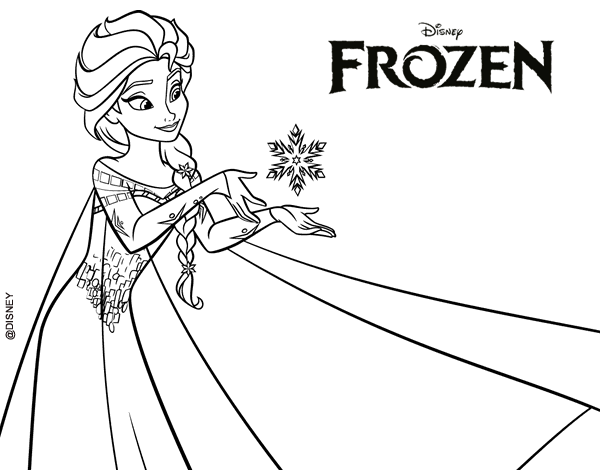 Dibujo De Frozen Elsa Para Colorear