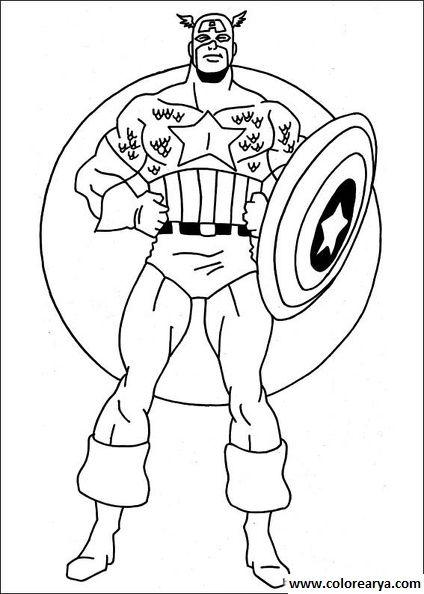 Dibujos De Super Heroes Para Colorear
