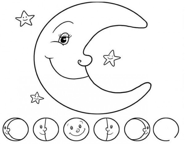 Dibujos De La Luna Para Colorear  Los Mejores