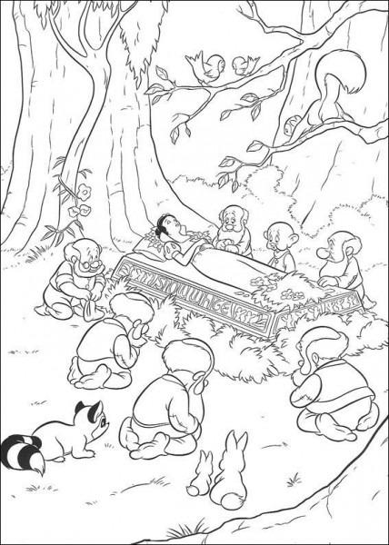Dibujos Para Colorear Blancanieves Y Los Siete Enanitos 11