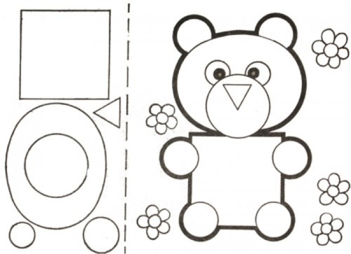 Animales Con Figuras Geometricas Para Colorear