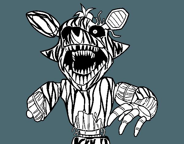 Dibujo De Foxy Terrorífico De Five Nights At Freddy's Para