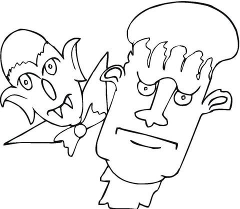 Dibujo De Frankenstein Para Colorear
