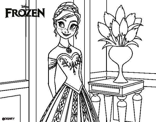 Dibujo De Frozen Princesa Anna Para Colorear Dibujos Net