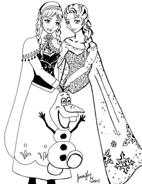 Frozen  Lindos Dibujos De La Princesa Anna Y Elsa