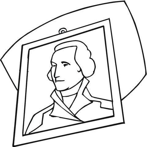 Dibujo De Retrato De George Washington Para Colorear