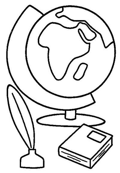 Globo Terraqueo Y Libro