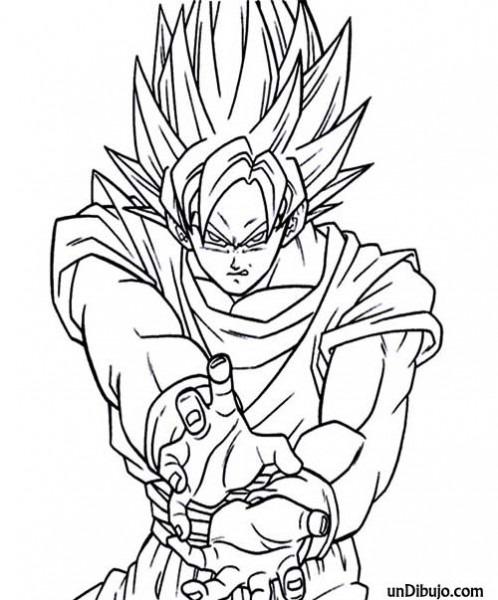 ▷ Dibujo De Goku Manga Para Colorear