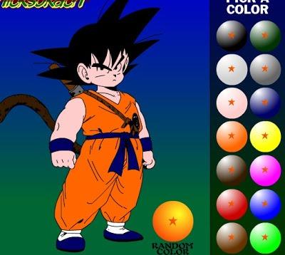 Juego Para Pintar Dibujo De Goku ~ Dragón Ball Kai