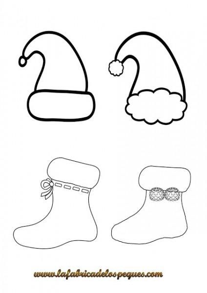 Imprimibles Y Plantillas De Navidad Gratis  Gorros, Calcetines Y
