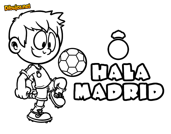 Dibujo De Hala Madrid Para Colorear