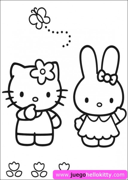 Hello Kitty Hello Kitty Colorear