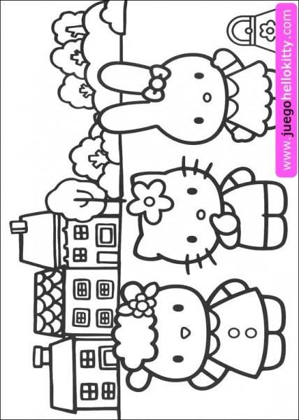 Hello Kitty Juegos De Hello Kitty Para Colorear