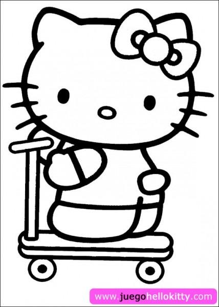 Hello Kitty Juegos De Kitty Para Pintar