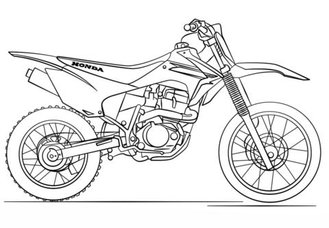 Dibujo De Moto De Trial De Honda Para Colorear